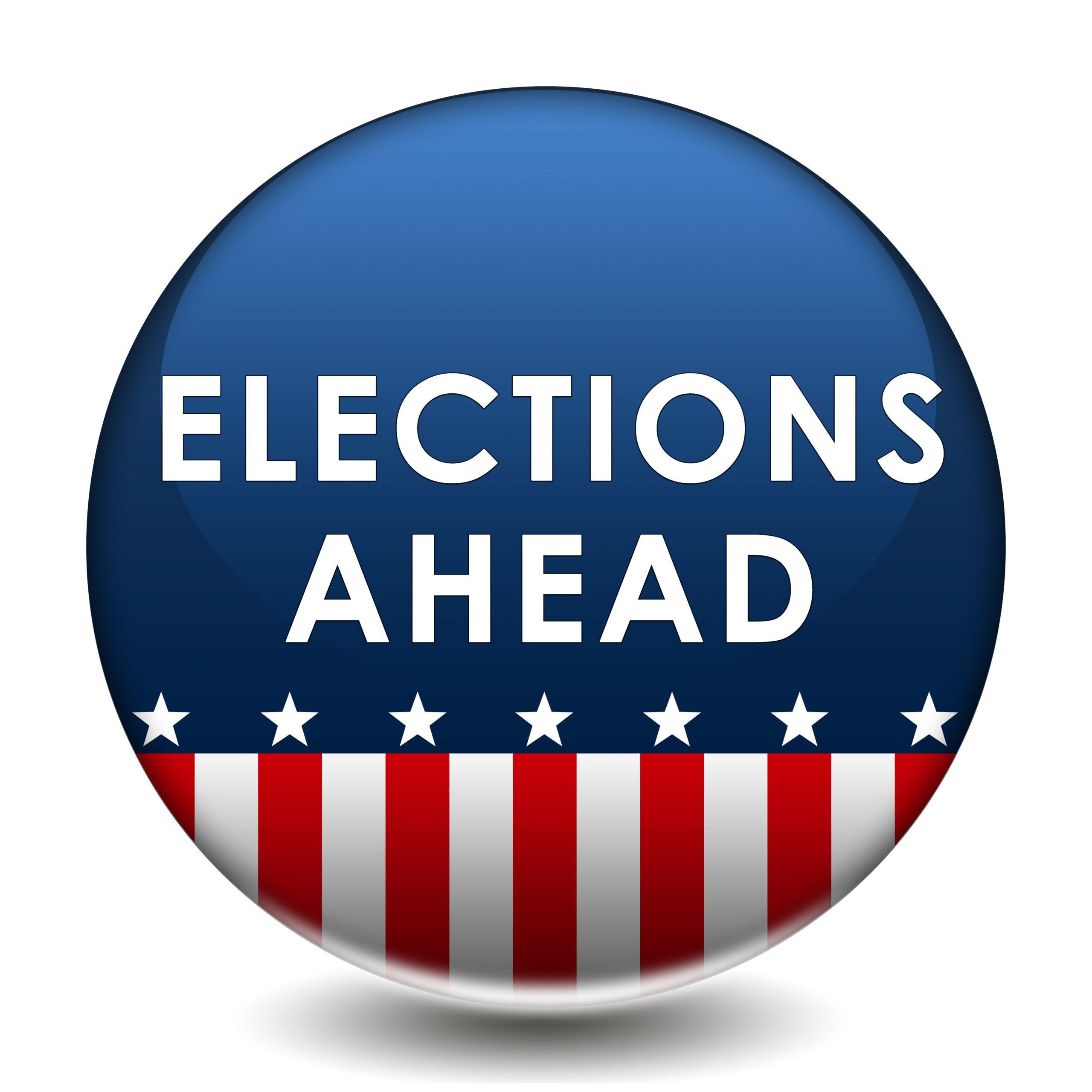 Election Ahead - vote badge