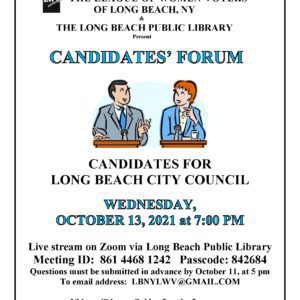 Candidate Forum for Long Beach City Council Flyer
