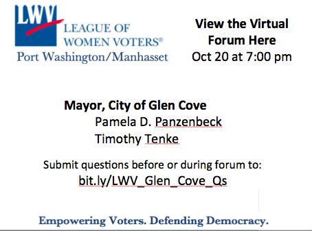 Glen Cove Mayorial Candidate Forum