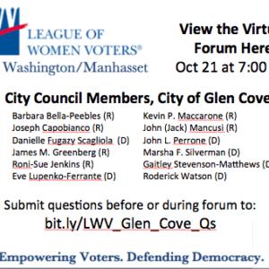 Glen Cove City Council Member Candidate Forum Debates