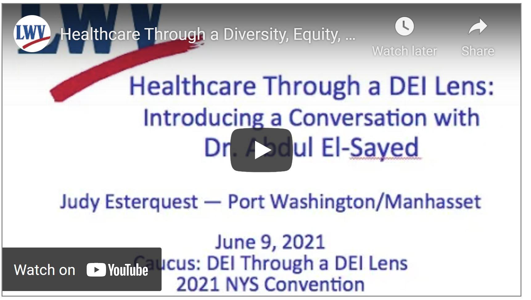Healthcare through the DEI Lens