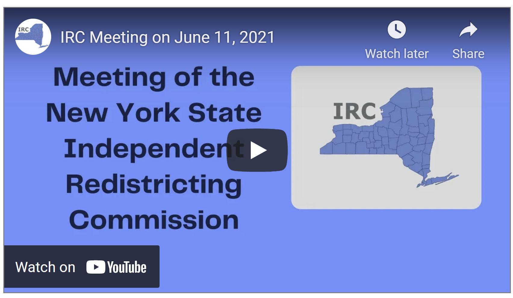 IRC June 11th Meeting