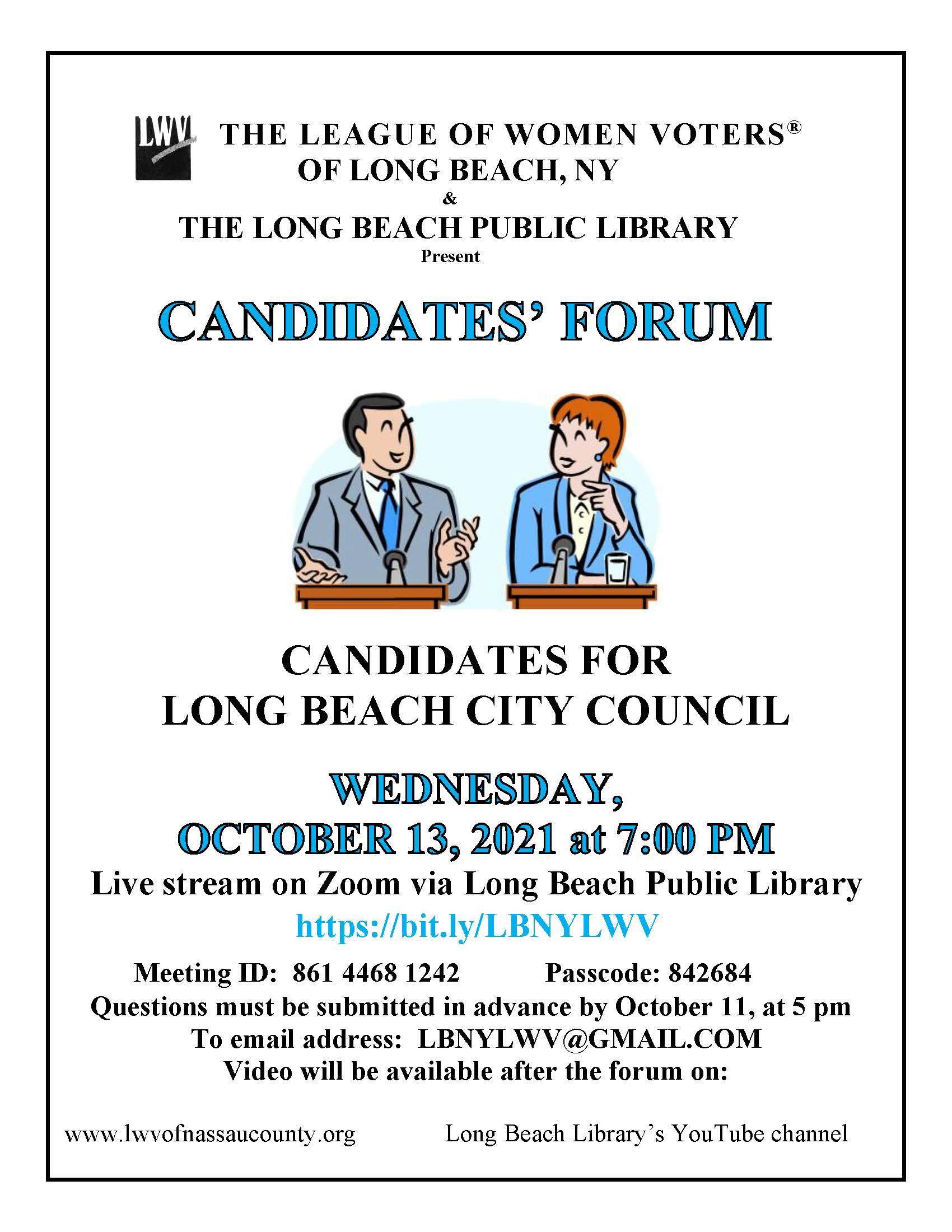 REV Candidates Forum Flyer