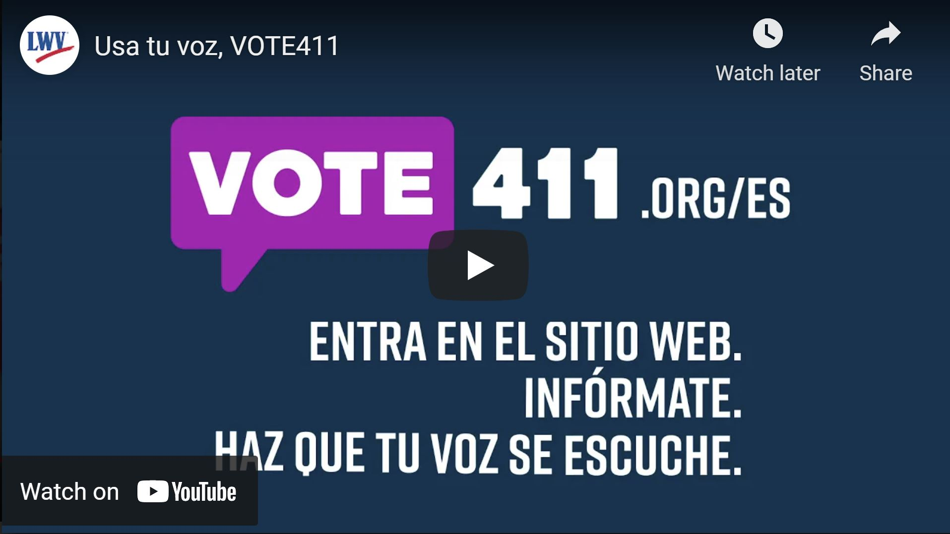 Usa tu voz vote 411