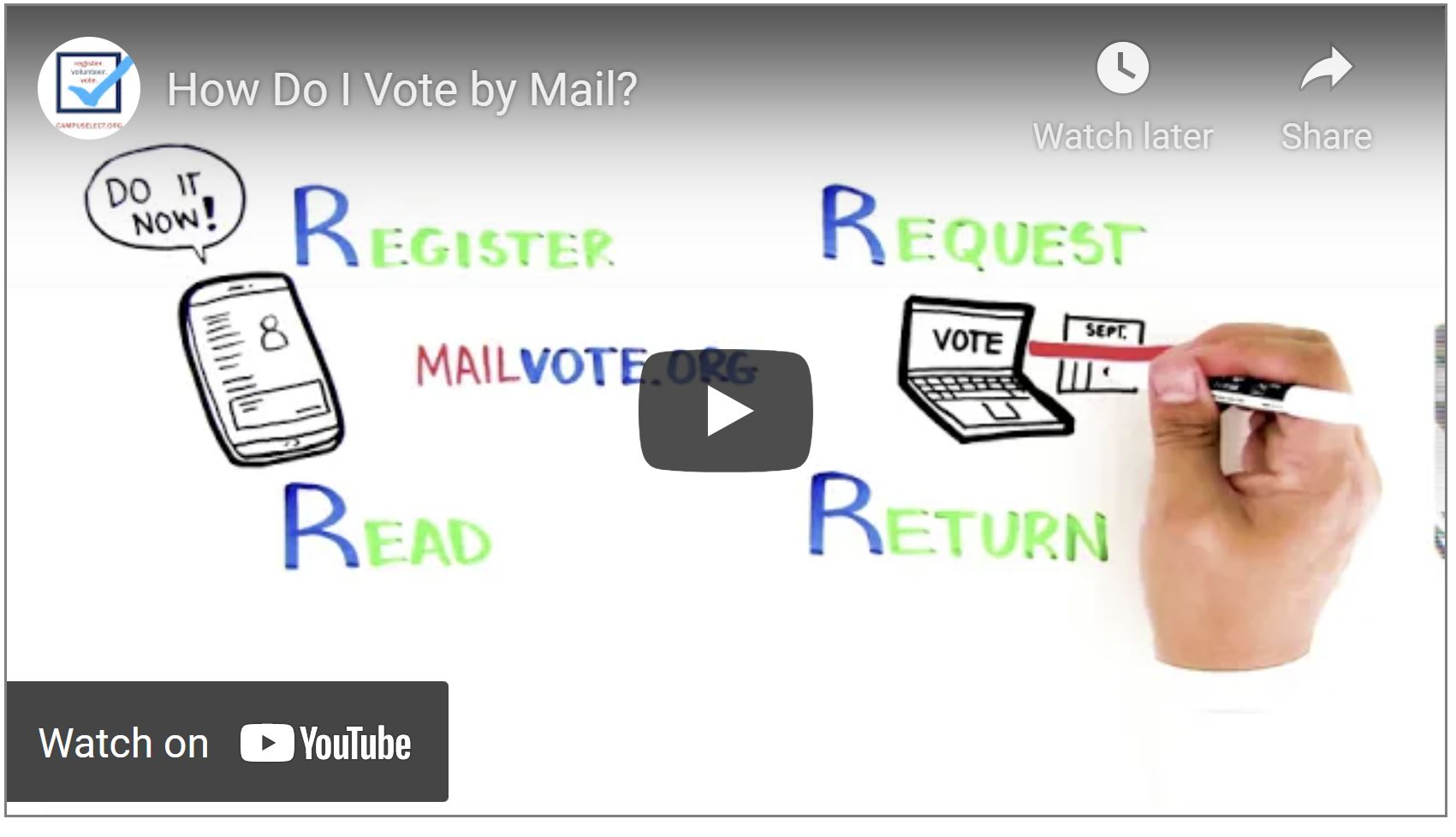 Learn how to Vote by Mail