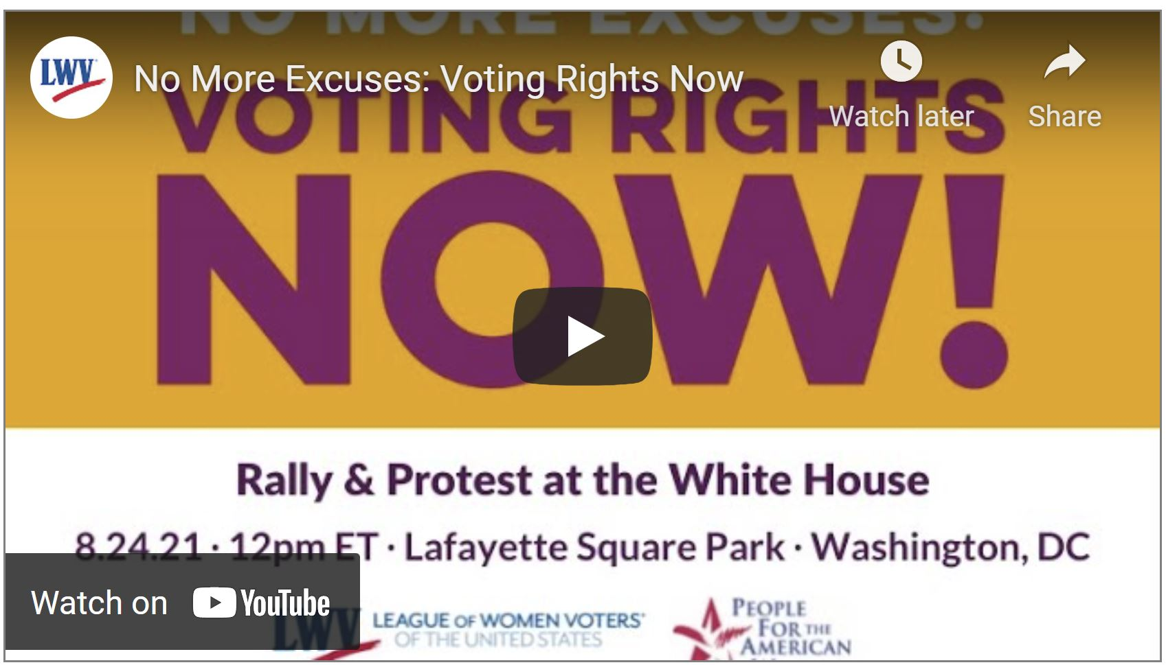 Voting Rights Now DC Rally