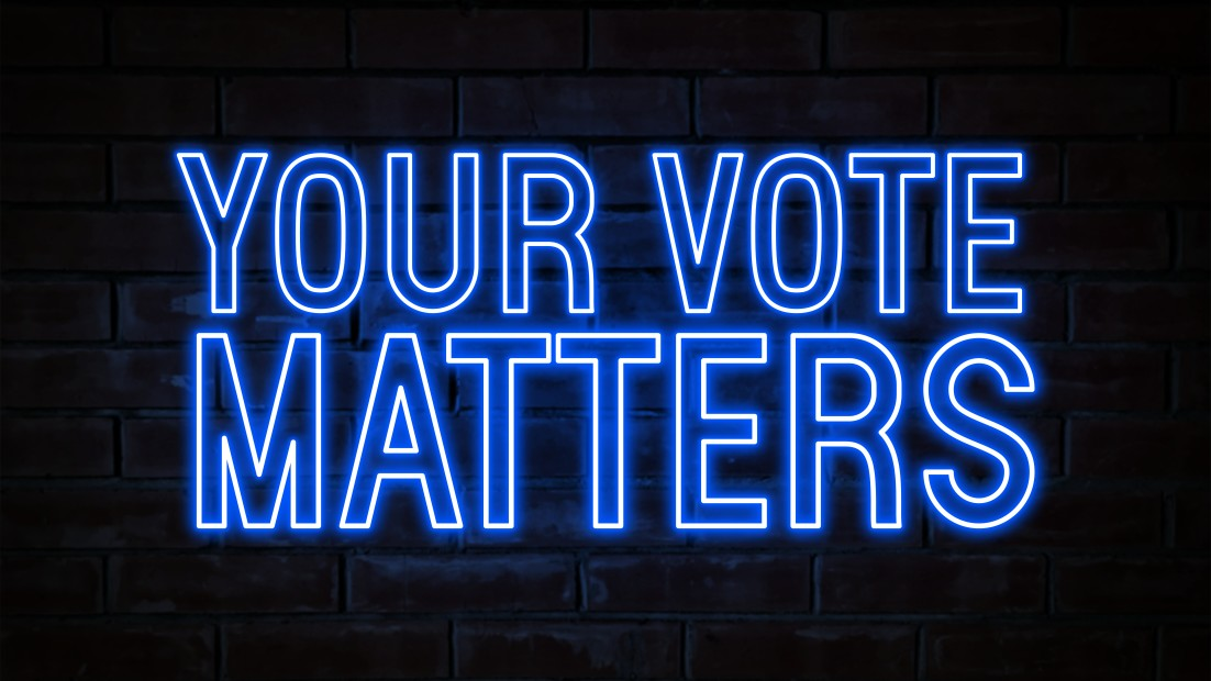 """A sign that says """"Your Vote Matters"""""""