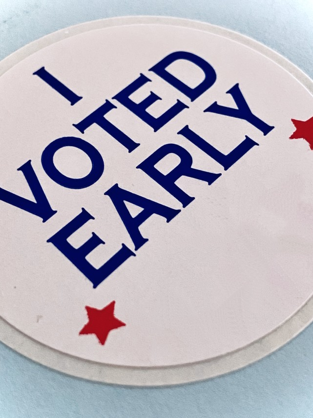 I Voted Early button